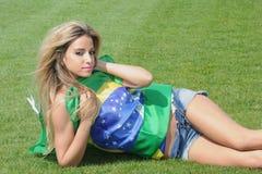 Brazilian supporter Stock Photo