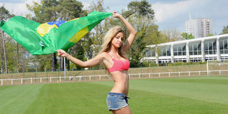 Brazilian supporter Stock Photography