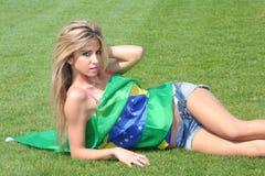 Brazilian supporter Royalty Free Stock Photos