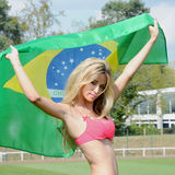 Brazilian supporter Stock Images