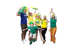 Brazilian supporters celebrating Stock Photography