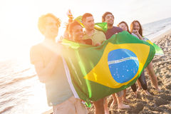 Brazilian Supporters Royalty Free Stock Photos