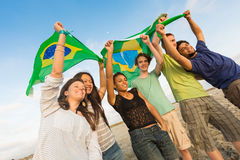 Brazilian Supporters Royalty Free Stock Photo
