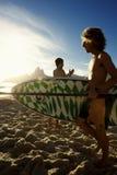 Brazilian Surfer Ipanema Beach Rio de Janeiro Brazil Stock Image