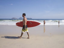 Brazilian Surfer Ipanema Beach Rio de Janeiro Royalty Free Stock Photo