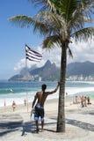 Brazilian Surfer Ipanema Beach Rio de Janeiro Royalty Free Stock Image
