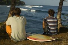 Brazilian surfers Stock Image
