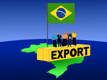Brazilian team on container Stock Photography