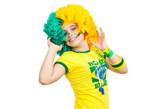 Brazilian teen celebrating Royalty Free Stock Photos