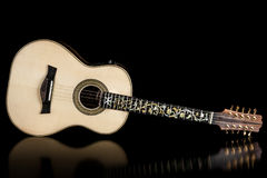 Brazilian ten strings steel guitar. Made by luthier Luciano Queiroz Royalty Free Stock Photo