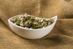 Brazilian traditional food called arroz de carreteiro Stock Image