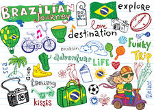 Brazilian travel, doodles Stock Image