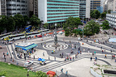 Brazilian walking along the street of business centre in Santa Teresa Royalty Free Stock Photography