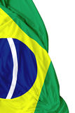 Brazilian waving flag on white background Stock Photo