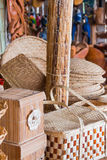 Brazilian wicker handcrafts. Hand made Royalty Free Stock Photo
