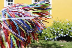 Brazilian wish ribbons Royalty Free Stock Photos