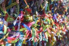 Brazilian Wish Ribbons Salvador Bahia Brazil Stock Image