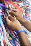 Brazilian Wish Ribbons Salvador Bahia Brazil Royalty Free Stock Images