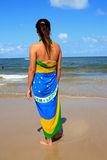 Brazilian Woman Beach stock photo