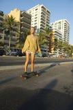 Brazilian Woman Skateboarder Rio de Janeiro Brazil Stock Photo