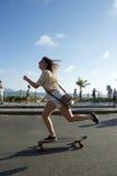 Brazilian Woman Skateboarder Rio de Janeiro Brazil Royalty Free Stock Photos