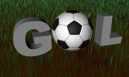 Brazilian word Gol in render 3D Royalty Free Stock Images