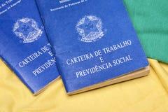 Brazilian work books or document work. Royalty Free Stock Photos