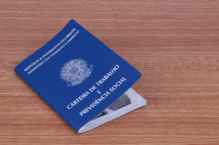 Brazilian work document and social security document (carteira d Royalty Free Stock Images