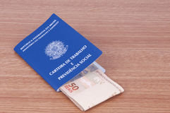 Brazilian work document and social security document (carteira d Royalty Free Stock Photo