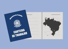 Brazilian work permit. Brazilian work document, work permit Stock Image