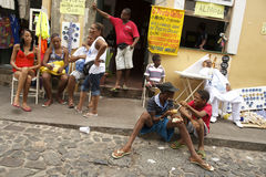 Brazilians in Pelourinho Salvador Bahia Brazil Stock Photography