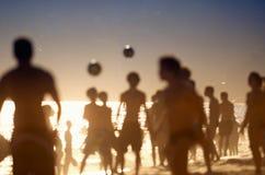 Brazilians Playing Altinho Keepy Uppy Futebol Beach Soccer Football Stock Photo