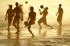Brazilians Playing Altinho Keepy Uppy Futebol Beach Soccer Football Stock Photography