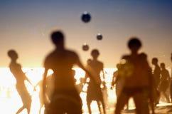 Brazilians Playing Altinho Keepy Uppy Futebol Beach Soccer Football Royalty Free Stock Image