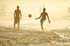 Brazilians Playing Altinho Keepy Uppy Soccer Football Rio Royalty Free Stock Image