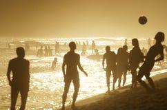 Brazilians Playing Beach Football Altinho Keepy Uppy Soccer Rio Stock Photo