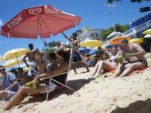 Brazilians Porto da Barra Beach Salvador Bahia Brazil Stock Photography