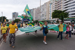 Brazilians Protest Against Government and President Stock Images