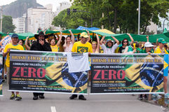 Brazilians Protest Against Government and President Royalty Free Stock Photography