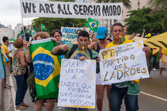 Brazilians Protest Against Government and President Stock Photo
