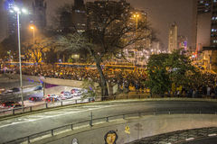 Brazilians protest against the rise in public transport fares - São Paulo Stock Photography