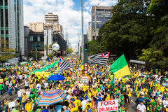 Brazilians Protests Stock Image