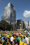 Brazilians Protests Royalty Free Stock Photography