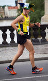 Brazilians runner on Palackého bridge of PIM Stock Photo