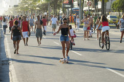 Brazilians Skateboarding Rio de Janeiro Brazil Royalty Free Stock Image