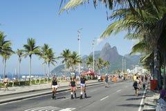 Brazilians Skating Rio de Janeiro Brazil Royalty Free Stock Images