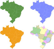 Brazilians States Stock Photo