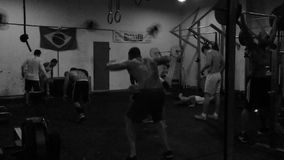 Brazilians Working Out in Gym Ipanema Rio stock footage