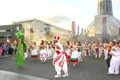 Brazilica Festival - Samba in the city Liverpool - Keep moving stock image