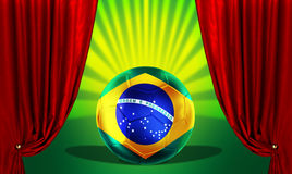 Brazill soccer ball Stock Photos